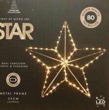 80 Warm White LED STAR Indoor Christmas Light Decoration 35cm Dual Mode