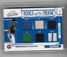 RICKEY HENDERSON 2005 ABSOLUTE TOOLS OF THE TRADE 5 PIECE GAME WORN  #1/5-METS!