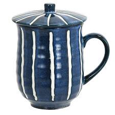 "1 PC. Japanese Porcelain Teacup Mug 5""H  w/ Cover/TOKUSA Design/ Made in Japan"