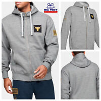 Size Large Under Armour UA USA Freedom Project Rock Gray Full Zip Hoodie Jacket