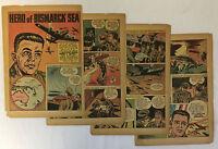 1943 six page cartoon story ~ LIEUTENANT GENERAL GEORGE C KENNEY