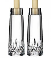 """Waterford Crystal Lismore Encore 7"""" Candlestick Pair #400008689 New In Box"""
