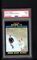 1971 Topps # 330 World Series Game #4 PSA 7 NM