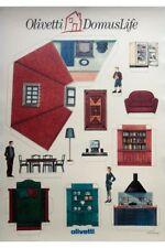 SOTTSASS / OLIVETTI DOMUS LIFE / AFFICHE 1990 / Poster