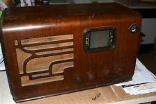 "AIRLINE 62-418 AM-SW ""MOVIE DIAL"" LARGE TABLE RADIO PRO SERVICED 1937 '37 TUBE"