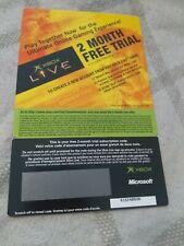 Original Xbox Live 2 month Trial 2004
