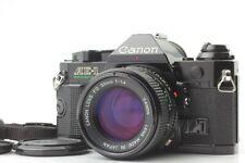 [Near Mint] Canon AE-1 Program black w/NEW FD 50mm F/1.4 Lens & Strap from Japan