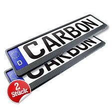 2x Kennzeichenhalter in Carbon Kennzeichen Nummernschild Halter EUROCLIP Patent.