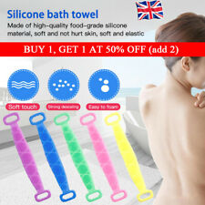 Body Cleaning Back Scrubber Bath Shower Silicone Spa Brush Tools