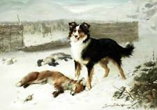 """Retribution"" Border Collie, Sheep, lamb fox  William Hunt"
