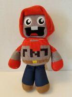 "EXPLODINGTNT, Minecraft TUBE HEROES 8"" Plush Soft Sculpture Doll Figure"