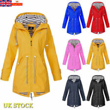 Women Waterproof Wind Jacket Coat Raincoat Ladies Hoodies Zipper Outdoor Outwear