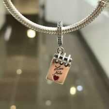NEW Genuine Pandora Love Notes Hanging Charm 797835CZ Red Heart I Love You ALE