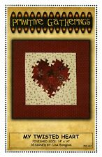 Primitive Gatherings My Twisted Heart Quilt Pattern Using The Itty Bitty
