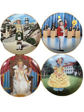 4 Shirley Temple plates: Wee Willie Winnie, Poor Little Rich Girl & 2 more