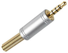 IPHONE SAMSUNG HTC NOKIA MOTOROLA SONY EXPERIA 3.5mm GOLD JACK PLUG CONNECTOR