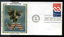 "1825 VA VETERANS ADMINISTRATION FDC WASHINGTON, DC  R & R COLORANO ""SILK"" CACHET"