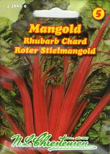 Mangold Roter Stielmangold Samen Saatgut Gemüse Sämereien Seeds Spargel Aussaat