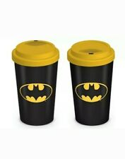 Batman (Logo) Travel Mug Gift, Black dark knight