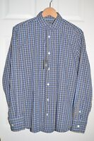 NEW ELEVENTY FIRST CLASS ITALY Gray Plaid Check CASUAL DRESS SHIRT SZ 15.75/40