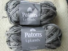 Lot of 2 skeins of Patons Uplands--Dark Granite