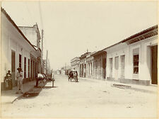 1899, J Murray Jordan, STREET scene, CUBA, RARE original photograph, 'cold beer'