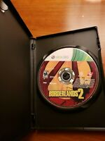 MICROSOFT XBOX 360  - WORKING GAME  DISC ONLY BORDERLANDS 2 with free black case