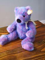 Ty Classic Plush PURPLEBEARY Purple Teddy Bear Plush Stuffed Animal