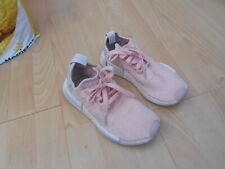 ADIDAS NMD R1 BOOST  TRAINERS UK SIZE 5 , PINK & WHITE - IN A GOODISH CONDITION