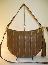 MICHAEL Michael Kors Brown Leather Brooklyn Grommet Medium Convertible Bag $498