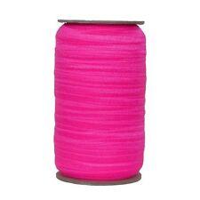 100 Yard Spool - Fold Over Elastic - Neon Pink - 5/8in Wide - FOE