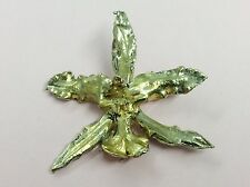 VINTAGE FLORA DANCIA GOLD ON SILVER DENMARK BROOCH PIN 1960