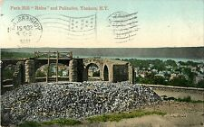 A View of the Park Hill Ruins & Palisades, Yonkers NY 1909