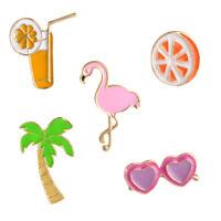 Enamel Piercing Brooch Pins Shirt Collar Pin Breastpin Summer Beach Jewelry BDAU