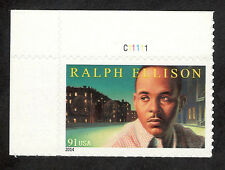 4866 Ralph Ellison US Single W/Plate Number Mint/NH (free shipping offer)