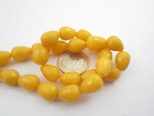 1 filo di gocce in agata gialla sfaccettata di 14x10 mm lungo 39,5 cm 28 pietre