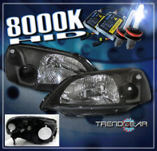 2001 2002 2003 HONDA CIVIC 2/4DR CRYSTAL HEADLIGHTS+HID 8K JDM BLACK DX EX GX LX