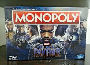 Monopoly Game: Marvel Black Panther Edition by Hasbro Brand New Unopened