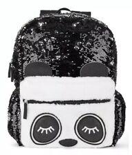 "Girls Wonder Nation Magic Sequin Panda Backpack School Book Bag Full Size 16"""