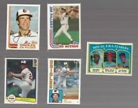 JIM PALMER Baltimore Orioles HOF Lot 5 Old vtg Baseball Cards 1970s 80s Topps 92