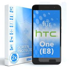 2x SCHUTZGLAS FÜR HTC One (E8) PANZER DISPLAYFOLIE ECHT GLAS 9H