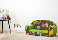 Africa Kid's Soft Foam Toddlers Sofa 2 Seater Seat Nursery Baby Settee Play