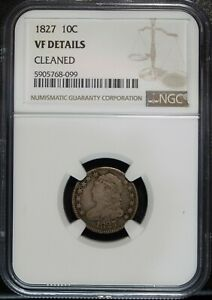 1827 NGC VF Details Capped Bust Silver Dime ☆☆ Great Set Filler ☆☆ 099