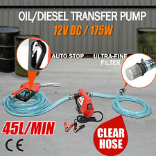 12V Portable Bowser Electric Oil Transfer Pump 45L/min Bio Diesel Oil Fuel Auto