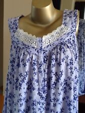 Women's Croft & Barrow Knit Cotton Blend Long Sleep Gown, Purple NWT Size XLARGE