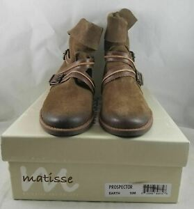 Womens Matisse Prospector Earth Suede Ankle Boots 10M Medium Shoes *See Pics