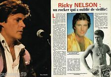 Coupure de Presse Clipping 1985 (2 pages) Ricky Nelson