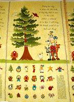 "King's Arrival Baby Jesus Nativity Religious Advent Calendar Fabric Panel 23"""