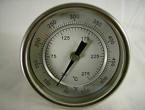 """3"""" BASIC RCFC CHARCOAL GAS GRILL PIT SMOKER THERMOMETER BBQ THERMOSTAT GAUGE"""