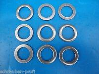 Unterlegscheiben für Zylinderschrauben DIN 433 ISO7092 Edelstahl V2A M1,6 - M12